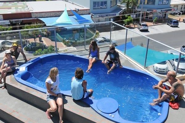 Yamba YHA rooftop pool