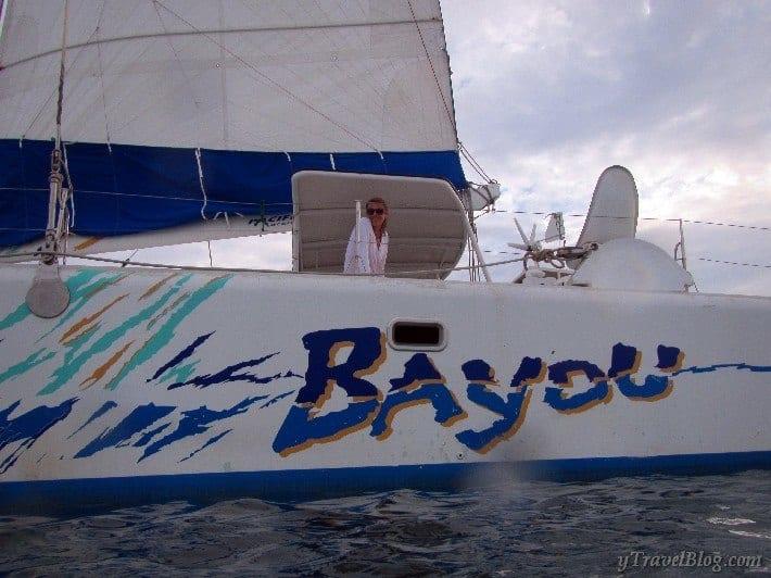 sunset catamaran tour in Noumea