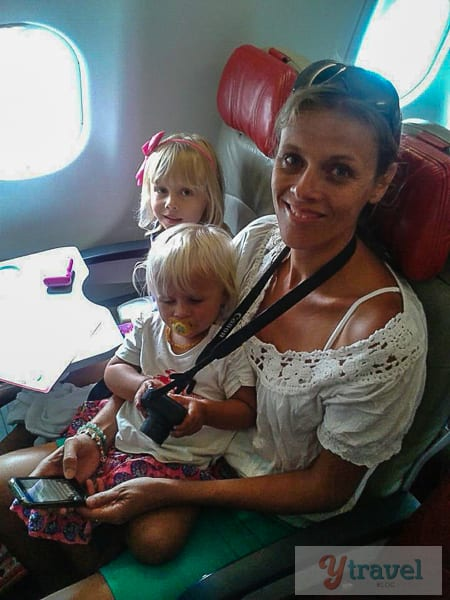 Air Asia X with kids