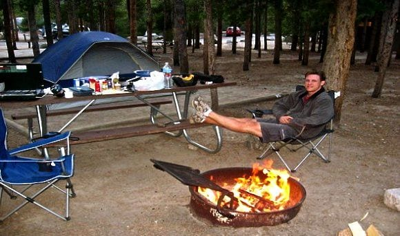 Go Camping - 52 Ways on How to save money on Travel