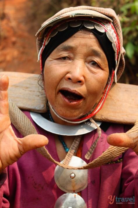 Akha hill tribe people