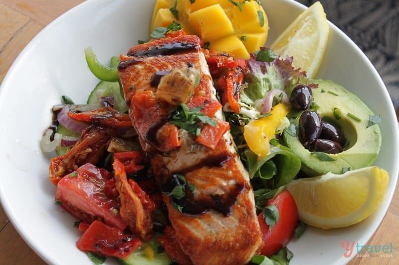 BBQ Atlantic Salmon salad