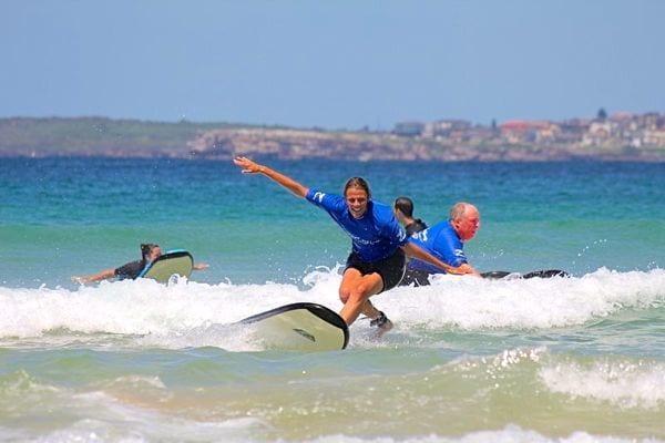 surfing lessons bondi beach sydney