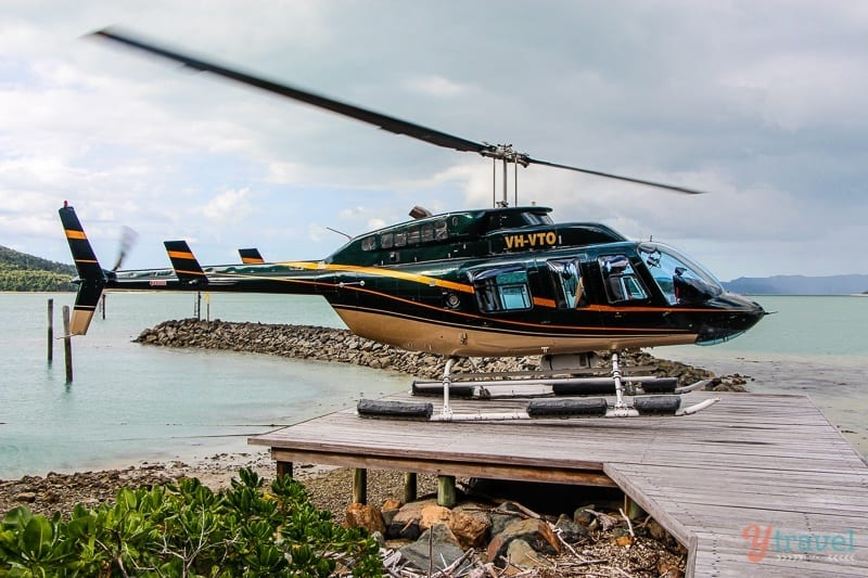 Helicopter flight, Whitsunday Islands, Queensland, Australia
