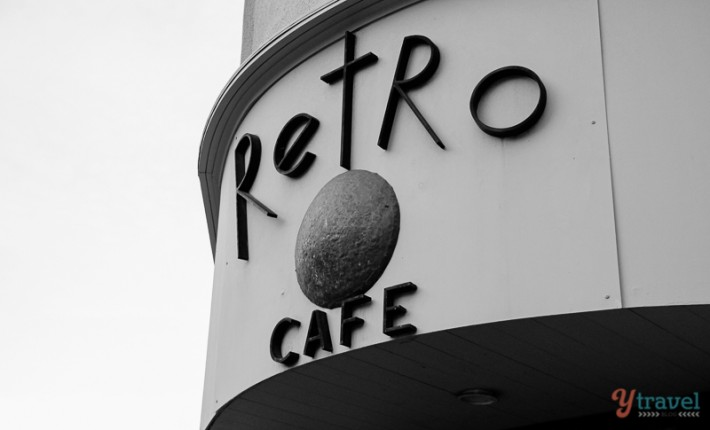 Retro Cafe in Hobart Tasmania, Australia