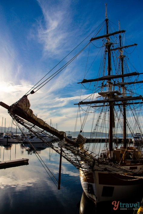 Hobart harbour in Tasmania, Australia