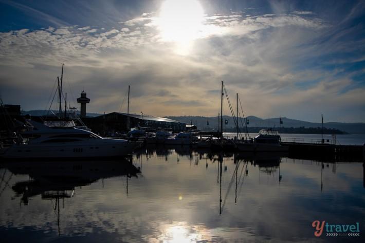 Sunrise over Hobart, Tasmania, Australia