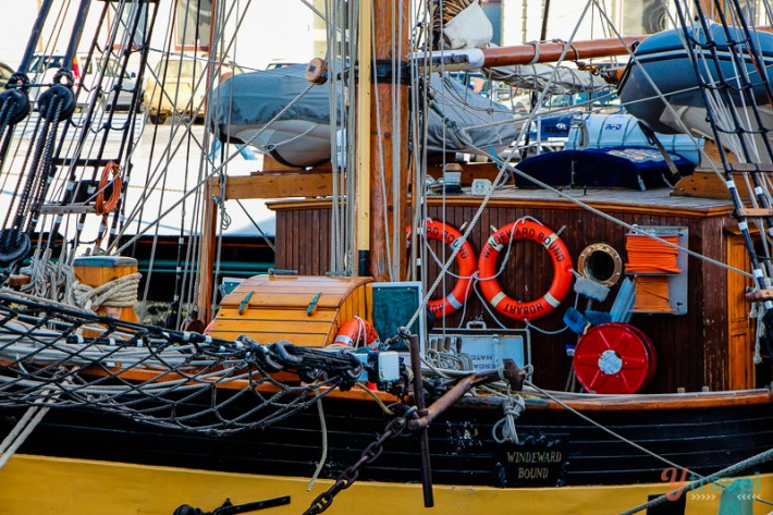 schooner yacht in Hobart, Tasmania, Australia