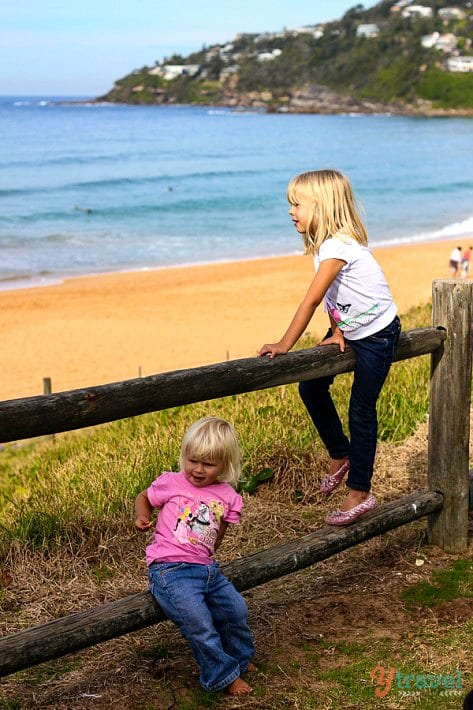 Our kids playing at Palm Beach, Sydney, Australia