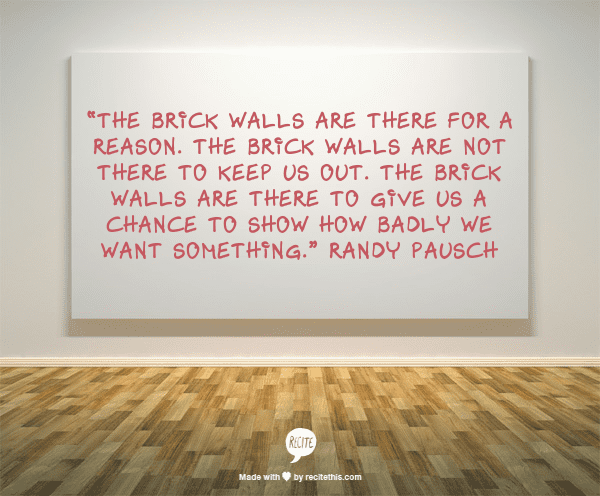 Quotes About Hitting a Brick Wall Hitting Brick Wall Quotes