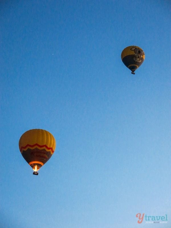 Hot Air Balloon over the Atherton Tableslands, Queensland, Australia