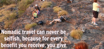 Nomadic travel quote
