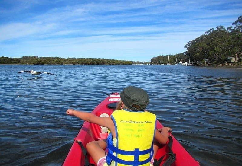 Kayaking in Jervis Bay, Australia