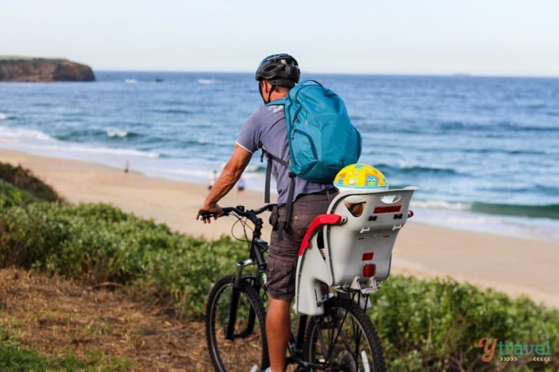 Biking the Wollongong foreshore