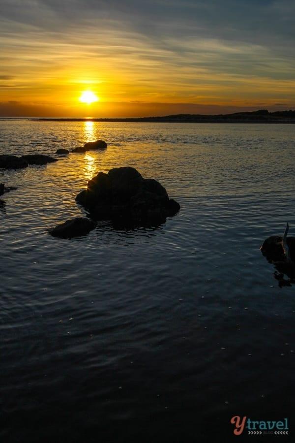 Great Oyster Bay sunset Tasmania