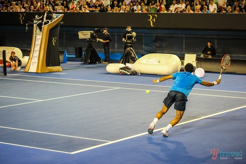 Federer vs Tsonga charity match Aussie Open (12)
