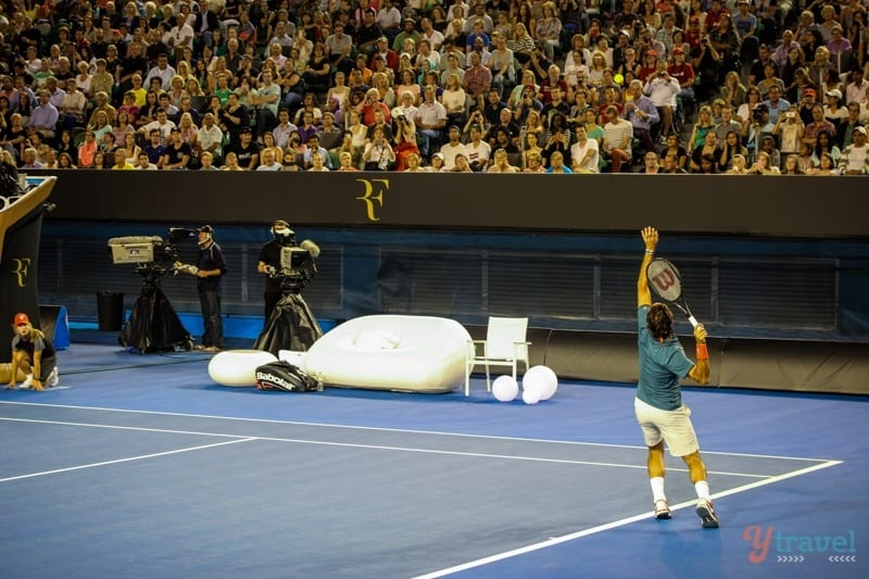 Federer vs Tsonga charity match Aussie Open (13)