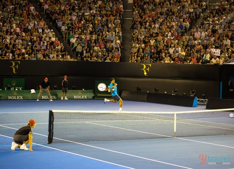 Federer vs Tsonga charity match Aussie Open (14)