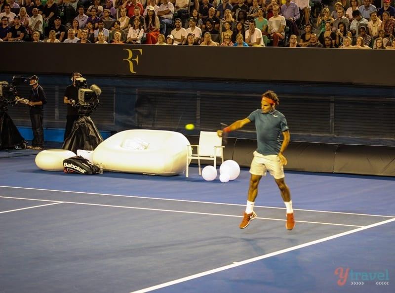 Federer vs Tsonga charity match Aussie Open (15)