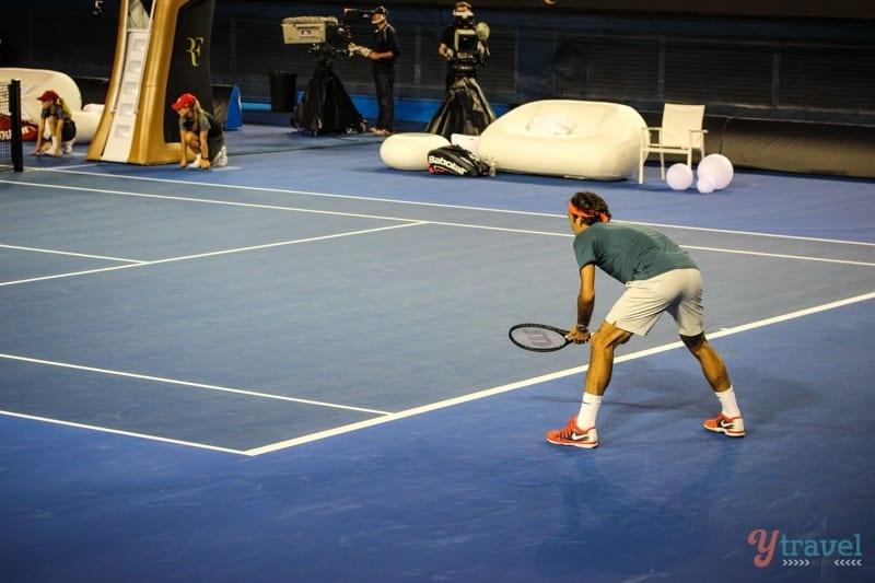 Federer vs Tsonga charity match Aussie Open (16)