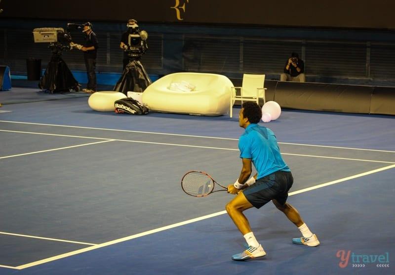 Federer vs Tsonga charity match Aussie Open (17)