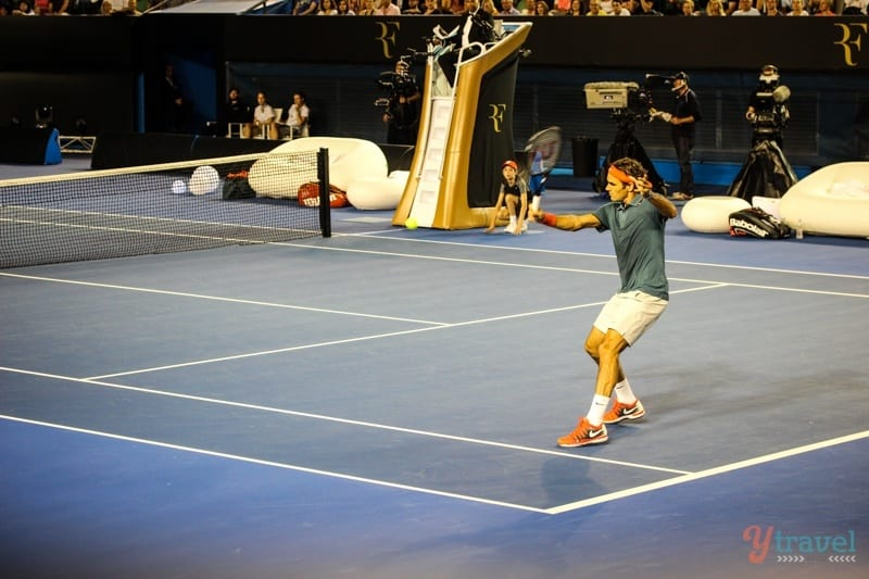 Federer vs Tsonga charity match Aussie Open (18)