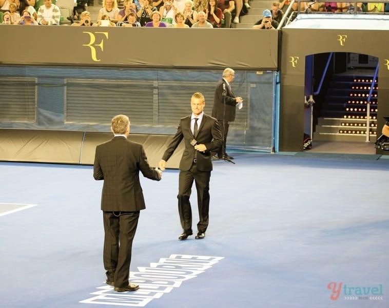 Leyton Hewitt Federer and Friends charity match Aussie Open (1)