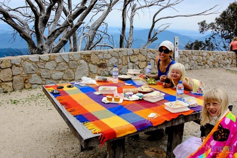 Picnic lunch at Mt Buffalo