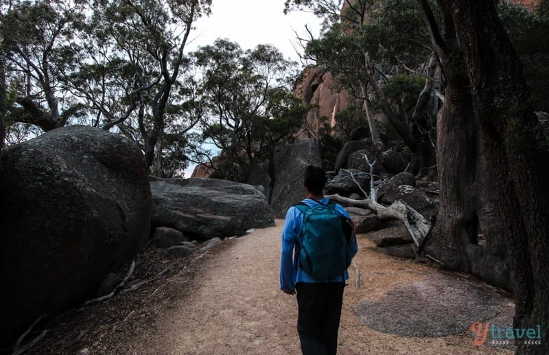 On the track to Wineglass Bay, Tasmania