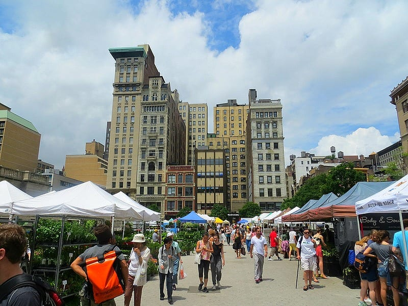 Farmers Market in the summer New York