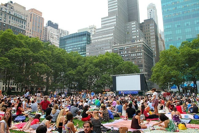 Bryant Park in the summer New York