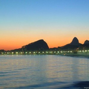 Copacabana Beach at twilight