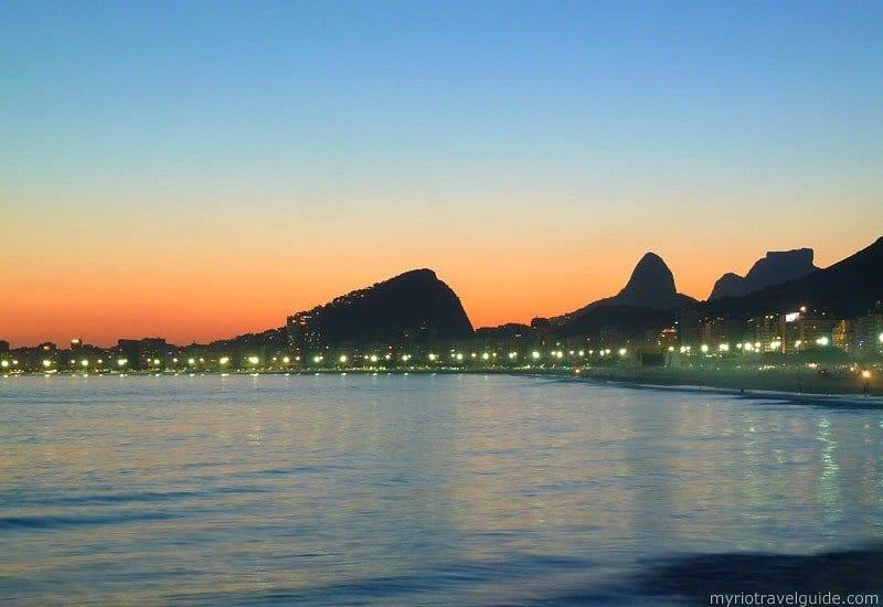 Copacabana Beach at twilight