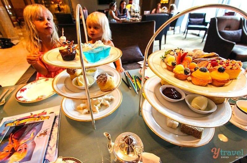 High tea ta the Langham Hotei in Melbourne