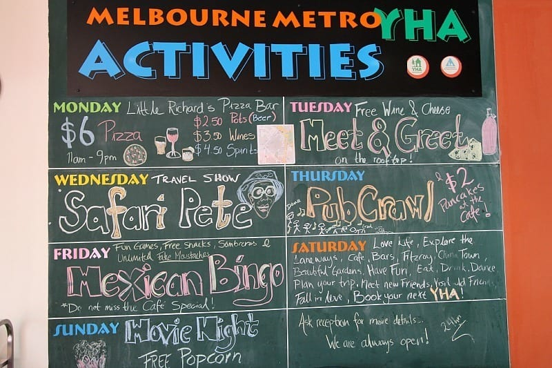 YHA hostel Melbourne Metro