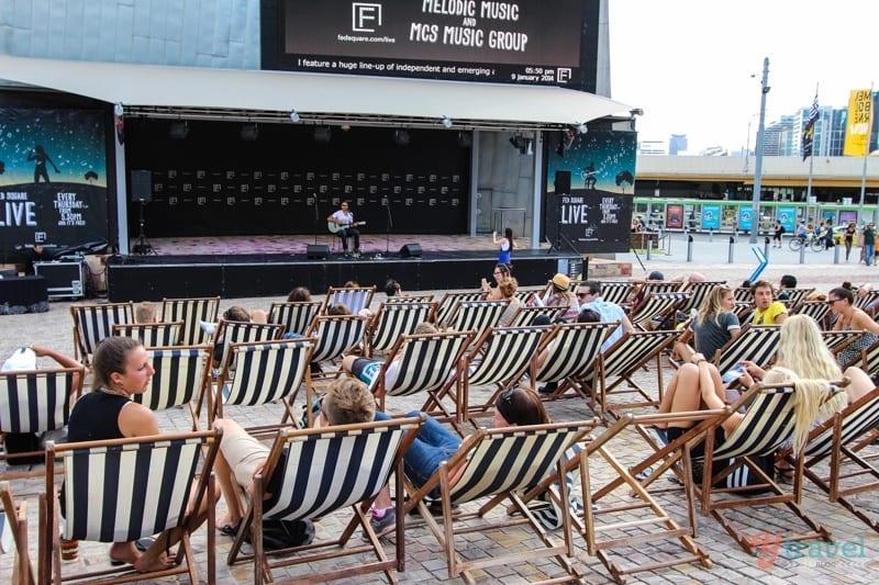 free live music Federation Square - Melbourne, Australia