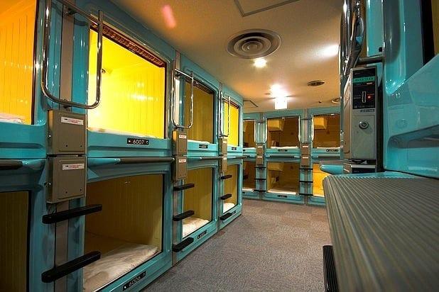 Sleeping in a box - Capsule Hotel - Tokyo, Japan