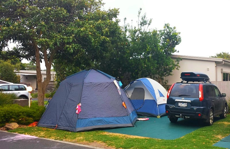 Our campsite at the Big4 caravan park in Queenscliff, Victoria