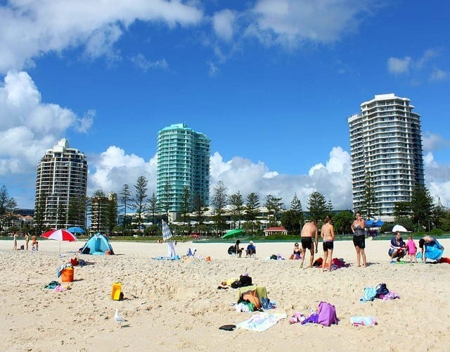 Coolangatta Beach - Gold Coast, Queensland, Australia