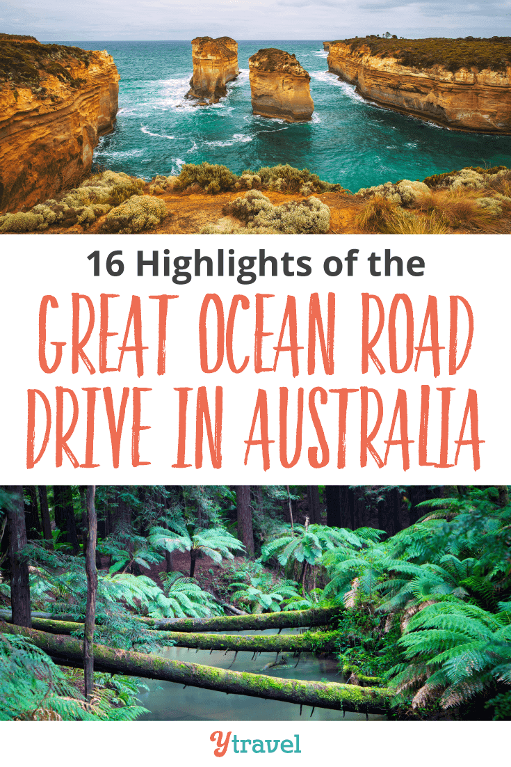 16 Highlights of the Great Ocean Road Drive in Australia.