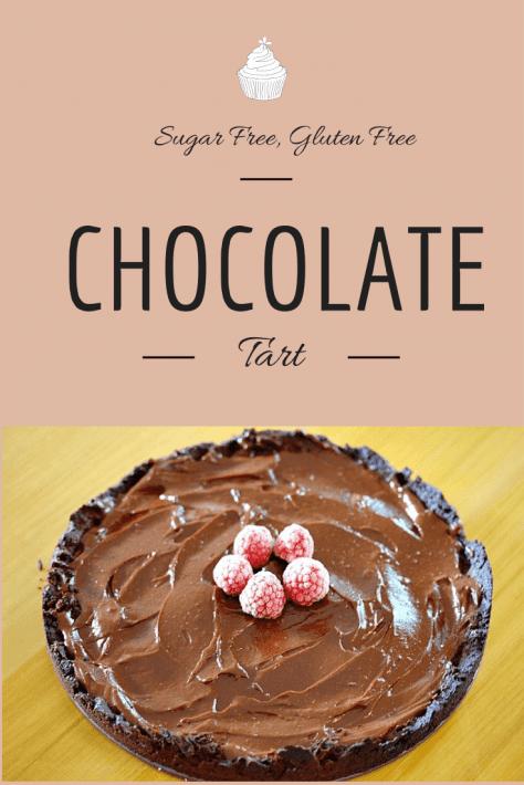 Chocolate Cashew Cream Tart Recipe (psst – it's sugar free + yummy)
