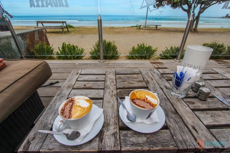 Coffee at the Lorne Beach Pavillion - Great Ocean Road, Australia