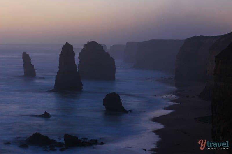 Sunset at the 12 Apostles - Great Ocean Road, Australia