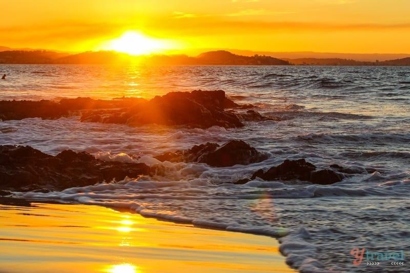 sunset at Rainbow Bay, Gold Coast, Australia