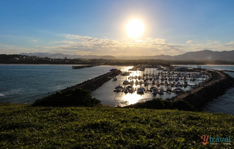 Sunset over Coffs Harbour - viewed from Muttonbird Island