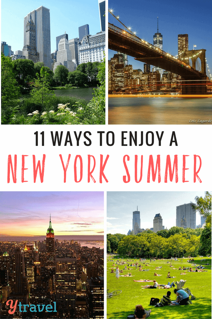 How to enjoy a New York City summer in 11 ways - food, parks, views, tours, bars and more things to do in New York in the summer.