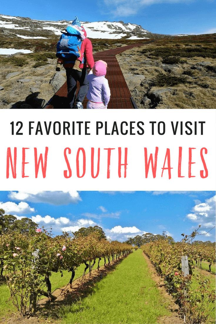 Vous cherchez des endroits à visiter en Nouvelle-Galles du Sud? Voir nos 12 suggestions principales couvrant la côte nord et sud, en plus du pays NSW.