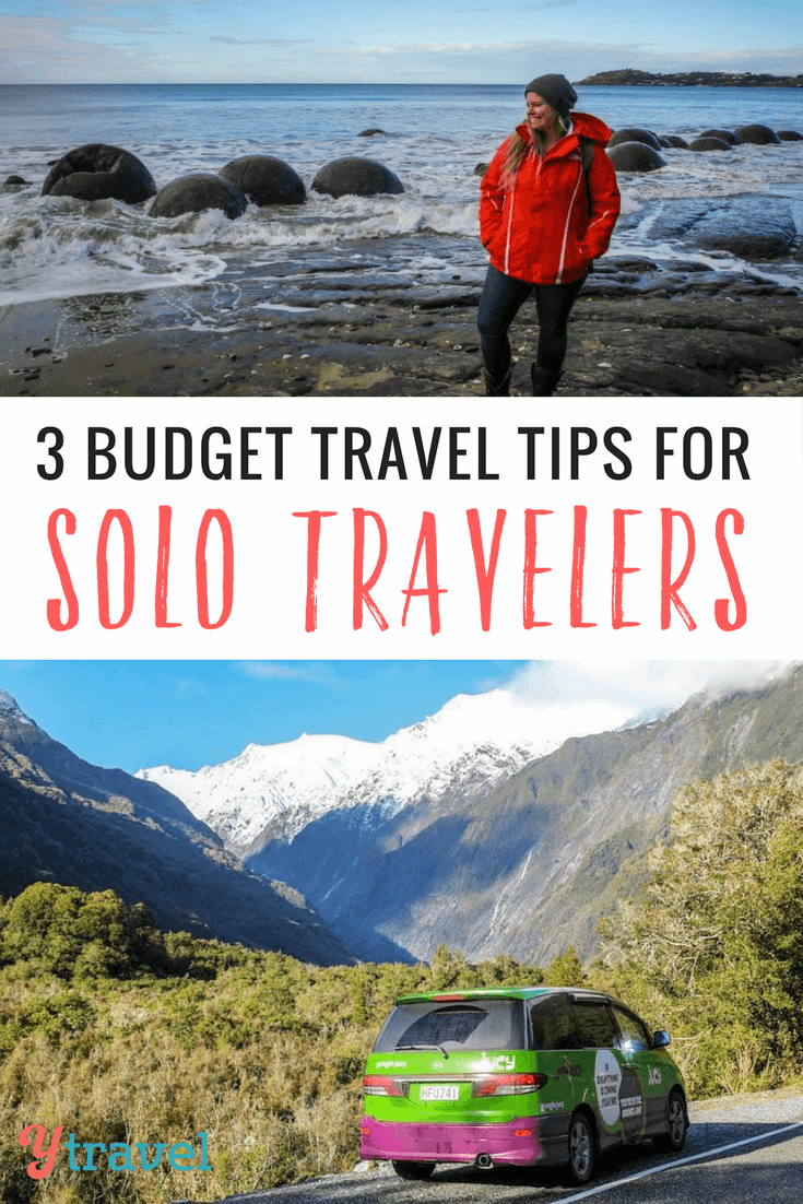 Some think traveling solo can be more expensive as you don't have someone to split costs with. Check out these 3 budget travel tips to help lower your costs