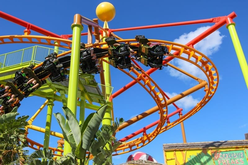 Escape from Madagascar Roller Coaster - Dreamworld, Gold Coast