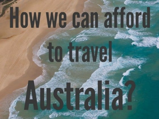 How to afford travel in Australia